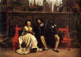Tissot, James Jacques Joseph: Faust and Marguerite in the Garden. Fine Art Print/Poster. Sizes: A4/A3/A2/A1 (00136)